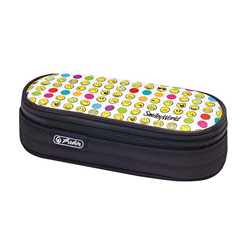 Herlitz Faulenzer Etui Federmäppchen, 22 cm, Smiley World Rainbow Faces