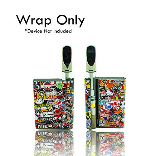 Custom Skin Decal for CCell Palm (Decal Only, Device is Not Included) - Vinyl Wrap Protective Sticker by VCG Customs (Sticker Bomb)