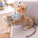 MKZHANG Tigre leopardo peluche juguetes animales salvajes suaves tigre blanco Jaguar muñeca niños niños regalos de cumpleaños-60 cm, leopardo