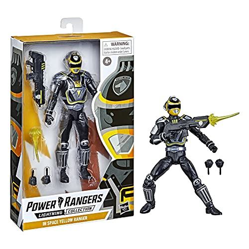 Power Rangers Lightning Collection S.P.D. A-Squad Gelber Ranger Premium Action-Figur (15 cm) zum Sammeln, von Serie inspirierte Accessoires