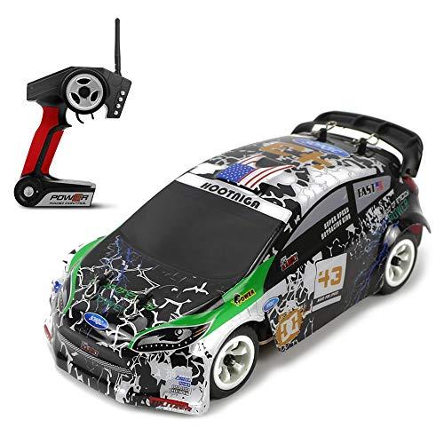 Weaston Vehículo RC eléctrico 2.4G Coche de Carreras rápido 30KM / H Buggy RC Full Ratio Site Drift Racing Camión Aficionado RC Juguetes competitivos para Adultos Principiantes Niños Niños Regalos de