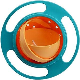 Gamelle anti-renversement pour enfant Gyro Bol rotatif /à 360 /° en forme de UFO pour la formation dutilisation du bol du b/éb/é Bleu