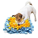 """YUNNARL Snuffle Mat Premium Quality Dog Feeding Mat Easy to Fill Cat Feeding Mat Training Feeding Stress Release Pad Durable and Machine Washable Pet Snuffle Mat Perfect for Any Breed (15.7"""" x 15.7"""")"""