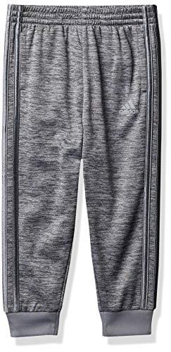adidas Boys' Active Sports Athletic Tricot Jogger Pant, Focus Charcoal Gray, Medium