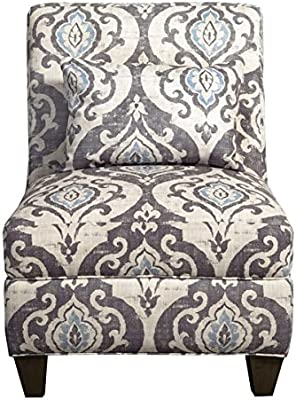 Amazon.com: Modern, Ikat Blue Slate Large Accent Chair ...