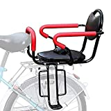 HJHQQ-CZYHG Rear Mounted Child Bike Seats, Portable Baby Kids' Bicycle Carrier with Guardrail Handrail and Pedal for Bicycle MTB Road Bike