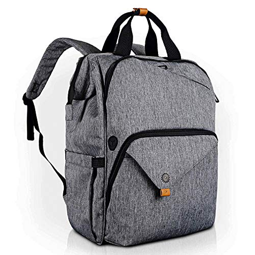 Hap Tim Laptop Backpack, Travel Backpack for Women, Grey Work Backpack (7651-G)