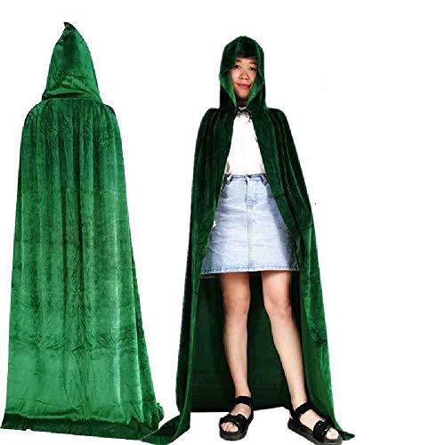 AYLWKS Gotische kap vlek mantel wicca gewaad heks larp cape vrouwen mannen Halloween Kostuums Vampires Fancy Party
