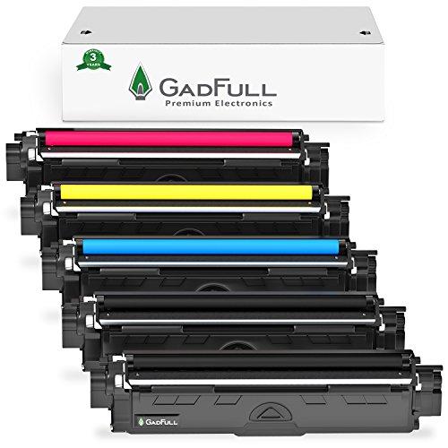 GadFull 5 Pack Toner kompatible mit Brother HL-3140CW | 3142CW | 3150CDW | 3170CDW | MFC-9130CW | 9140CDN | 9330CDW | 9340CDW | 9020CDW | Entspricht dem Original TN-241 / TN-245 | 2500 Seiten