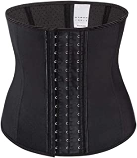 SMLCTY Waist Trainer,Corset Tummy Control Belt,Body Shapewear Weight Loss Breathable Latex 3 Row Hook,Adjustable and Durable,Accelerate Fat Burning and Easily Lose Weight (Size : M)