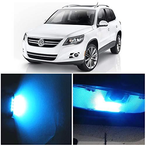 WLJH Lot de 10 Super Brillant Glace Bleue Canbus Kit Ampoules IntéRieures Feux Led Lumineuses Sans Erreur 2835 Puces IntéRieur De Voiture Pour Tiguan (2009-2013)