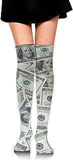 Jesse Tobias, Calcetines hasta la rodilla Medias altas y cálidas Calcetín de mujer Calcetín para piernas Calcetines altos para el uso diario Cosplay Cool Dollar Dollar Bill