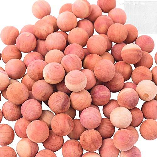 KAHEIGN 50 Pz Legno di Cedro Palline Antitarme, Aromatico Naturale al 100% Cedro Rosso Blocchi di Legno Anti Falena Protezione per Vestiti di Stoccaggio Deodorante per Cassetti Guardaroba