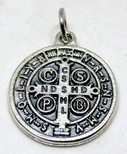 GTBITALY 60.048.30 medaglia di San Benedetto Argento da 2 cm con Anello esorcista esorcismo