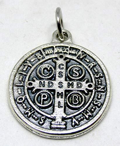 GTBITALY 60.048.30 medalla de San Benito Plata de 2 cm con anillo exorcista exorcismo