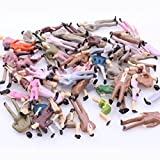 ZJIA 1:50 Scale O Gauge Colorful Painted Mixed Model People Figure Layout (Pack of 100)