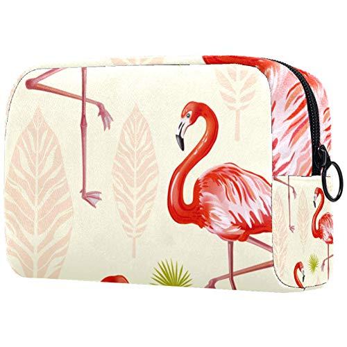 Bolsa de cosméticos para Mujer, Bolsas de Maquillaje, Neceser de Viaje, Organizador de Accesorios, Pluma de Flamenco