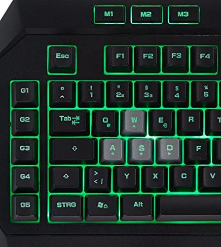 Amazon Basics - Gaming-Tastatur, mechanische Haptik (QWERTZ Layout)
