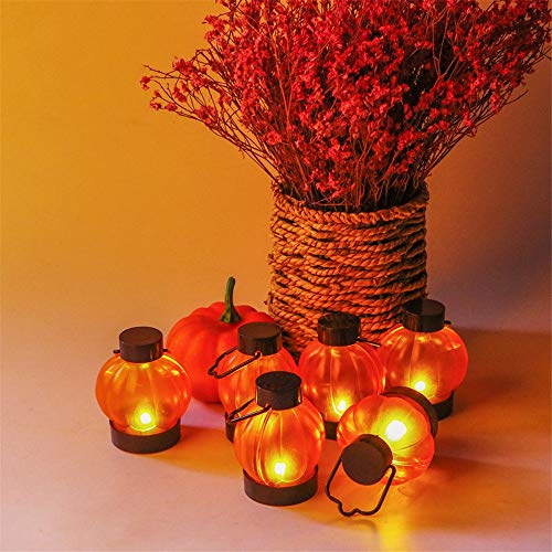 Yzibei Romantico The Simulation Pumpkin Electronic Candle Light Creatieve lantaarns Halloween Mini draagbare elektronische kaars 6 stuks