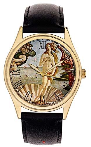 Geburt von Venus. Botticelli Schöne Armbanduhr aus massivem Messing handgefertigt
