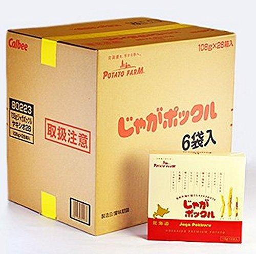 【北海道限定】じゃがポックル(薯條三兄弟) 6袋入り / お土産袋付き / 複数注文可能 (28個)