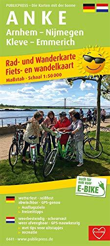 A N K E, Arnhem - Nijmegen - Kleve - Emmerich: Rad- und Wanderkarte/Fiets- en wandelkaart mit Ausflugszielen, Einkehr- & Freizeittipps, wetterfest, reissfest, abwischbar, GPS-genau. 1:50000