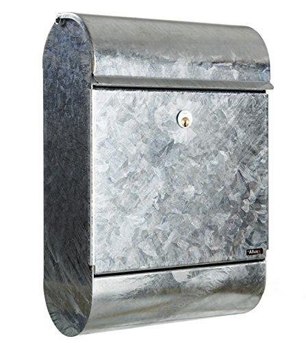 Allux 9000 F60901 Briefkasten, Zink, 500 x 350 x 160 mm