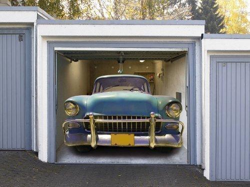 Pfiffig-Wohnen Garagentor Fotoplane American Car