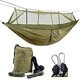 Healthmmo Kelenpro ligero Camping hamaca con mosquitera ligero nylon paracaídas hamaca 440lb...