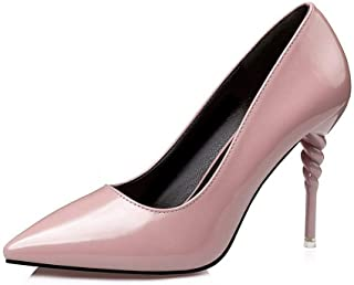 Ying-xinguang Shoes Fashion Fashion High Heel Fine with Patent Leather was Thin Single Shoes Work Shoes Women's High Heels Comfortable