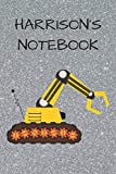 Harrison's  Notebook: Funny Digger  Writing 120 pages Notebook Journal -  Small Lined  (6' x 9' )