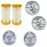 HNTYY Filtro 6pcs HEPA Filter Cover Accesorios de aspiradora Piezas Ajuste para Philips FC8264 FC8262 FC8260 FC8208 FC8256 Piezas de aspiradora