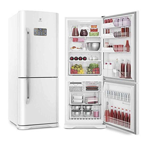 Refrigerador Electrolux IB53 Frost Free Bottom Freezer Inverter Branco 454 Litros - 220V