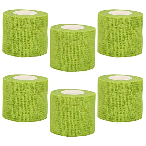 VideoPUP Tattoo Grip Cover Wrap,6PCS Disposable Cohesive Tattoo Grip Cover Elastic Bandage Handle Grip Tube for Tattoo Machine Tattoo Grip Accessories(Grass Green)