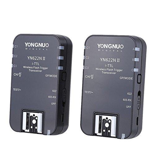YONGNUO YN622N II Wireless TTL Disparador de Flash con HSS para Nikon D7200 D7300 D7000 Cámaras D7100 con NAMVO Difusor