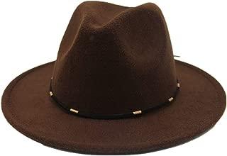 Hat Fascinator Trilby Jazz Hat Size 56-58CM Men Women Wool Fedora Hat Outdoor Travel Church Casual Wild Hat Fashion Hat