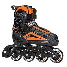 5th Element B2-100 Adjustable Kids Recreational Inline Skates - 2-4/Black-Orange