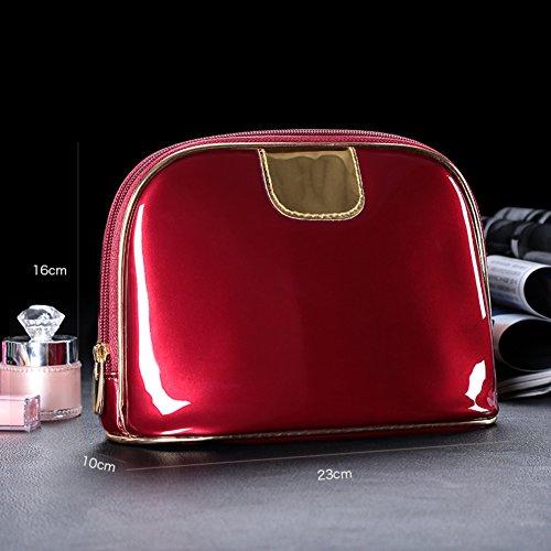 Boîte de rangement cosmétique sac cosmétique cosmétiques plein air voyage mode bain organisateur de maquillage maquillage stockage de brosse de maquillage cadeau de petite amie surprise garçons pour les filles porte-rouge à lèvres sac portable imperméable femme-H