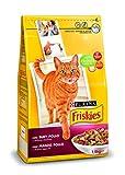 Purina Friskies Pienso para Gato Adulto Buey, Pollo y Verduras 6 x 1,5 Kg
