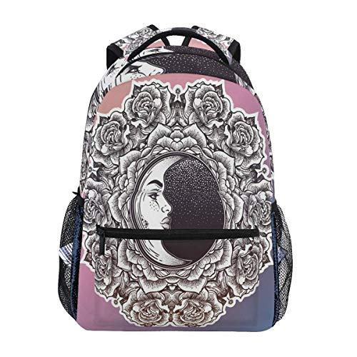 Mandala Backpack Bookbags Daypack Bags Water Resistant, Bag Mini Backpack Purse Travel Sports for Men Women BAG-206