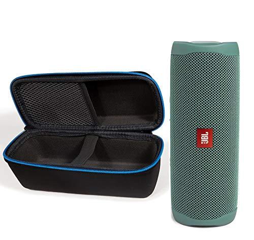 JBL Flip 5 - Juego de altavoces de plástico reciclado con Bluetooth y funda protectora rígida (edición Eco)