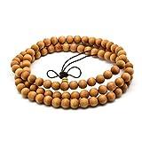 ヒノキ(太行山崖柏)数珠 男性用女性用ブレスレット 油分が高いヤーバイ念珠 本場の生薬のにおい付き 腕輪の数珠 天然素材 (丸珠 8mm直径 108玉)