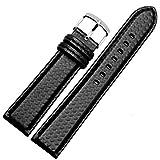Cinturino per orologio sportivo in fibra di carbonio per uomini e donne 18/20/21/22/23/24mm, Nero nero, 18MM, Cinturino