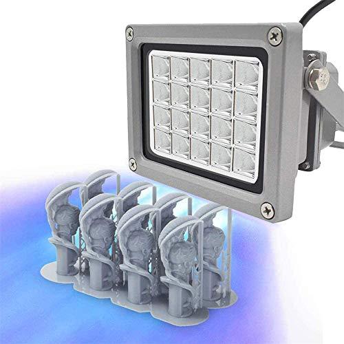 Vogvigo 3D Printer UV Resins Curing Light with 20W output, 405nm UV LED Resin Curing Light for SLA/DLP, Photosensitive Resin Light for UV curing, medical therapy
