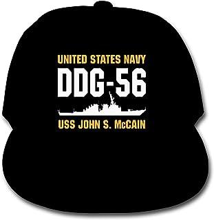 ADGoods Kids Children DDG-56 USS John S McCain Baseball Cap Adjustable Trucker Cap Sun Visor Hat For Boys Girls Gorra de b...