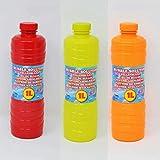 Riyashop Seifenblasenpistole Bubble Gun Seifenblasen Seifenblasenmaschine Rasenmäher Seifenblasefisch (1 Liter Seifenblasenflüssigkeit Nachfüllflasche)