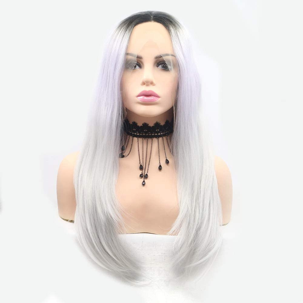 Wigs Bargain sale Wig Ladies Hand Lace Set Louisville-Jefferson County Mall Gra and White European