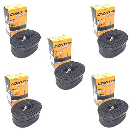 """Continental 29"""" x 1.75-2.5 Mountain Bike Inner Tubes with 40mm Schrader Valve (Set of 5)"""