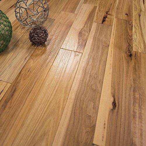"5"" x 1/2 Hickory Hand Scraped Prefinished Engineered Wood Flooring, 1 Box, by Hurst Hardwoods"