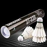 Senston A30 Badminton Shuttlecocks 12-Pack Feather Badminton Birdies with High...